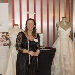 Caroline Risberg är damskräddare och syr upp brudklänningar på beställning